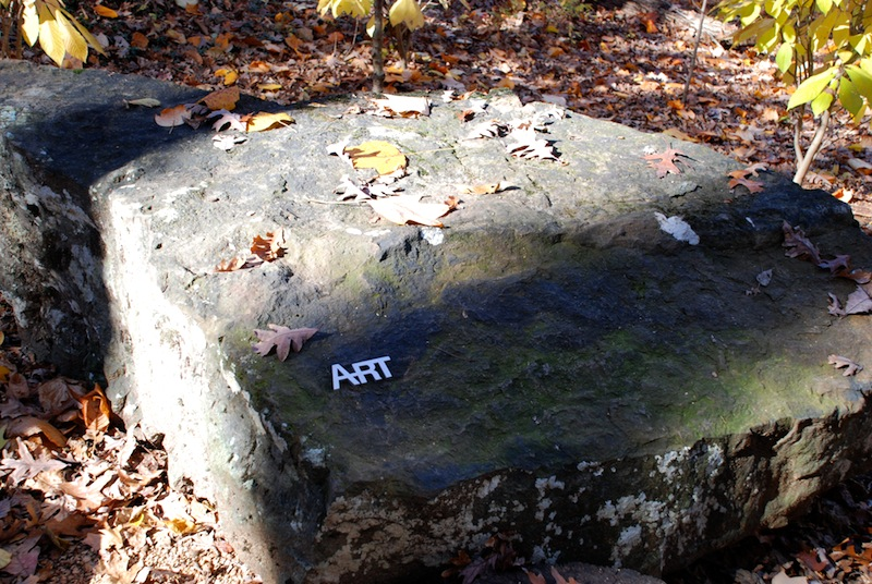 "Robert Tannen ""Grains of Sand"" 2011 native stone and cast aluminum"