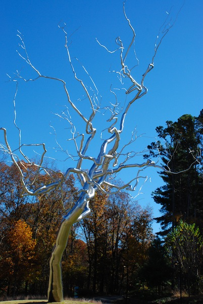 "Roxy Paine ""Yield"" 2011 stainless steel"