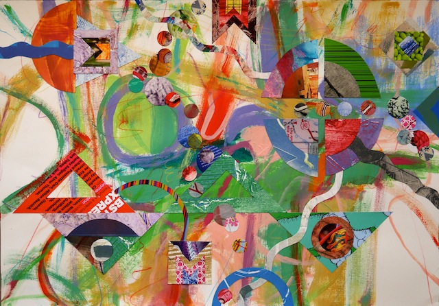 """Untitled #1282 collage, 22x30"""", 2014"""